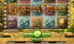 Gonzo's Quest via Polder casino